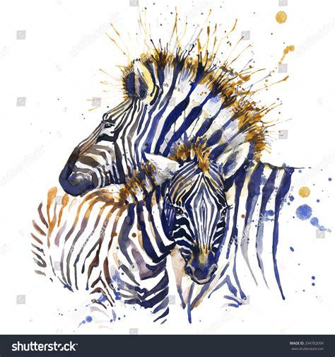 zebra fashion illustration zebra tshirt graphics zebra illustration splash stock ilustrace 294782099