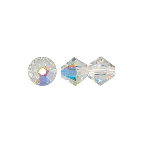 Swarovski Austria Ab 5 Mm swarovski 5328 faceted xilion bicone 5mm ab
