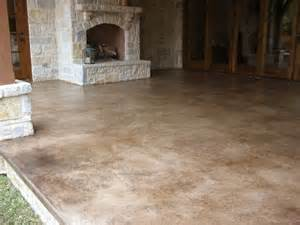 colored concrete floors take a look at this patio concrete stain solcrete