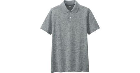 Uniqlo Ex Polo Greywhite uniqlo s ex polo shirt in gray for lyst