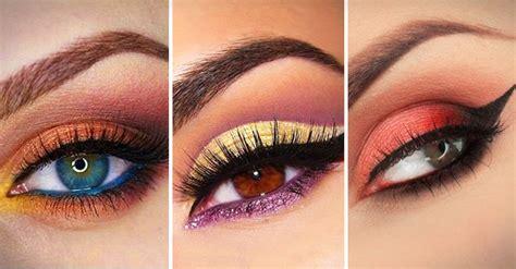 Imagenes De Ojos Pintados Con Sombras | 20 sorprendentes trucos de maquillaje con sombras de colores
