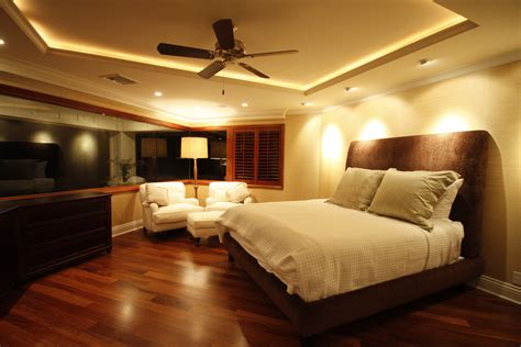 Bedroom Lighting Design With Fan Royal Colour In Bedroom With Fall Ceiling Home Combo