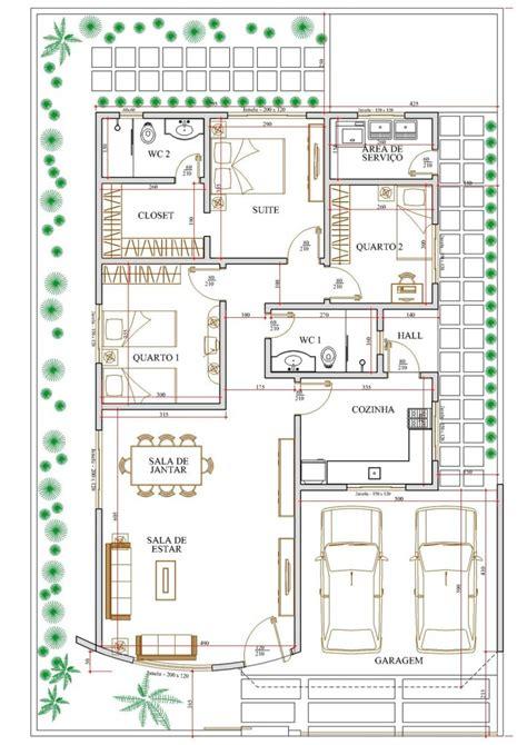 desenhar planta de casas plantas de casas de 3 quartos garagem