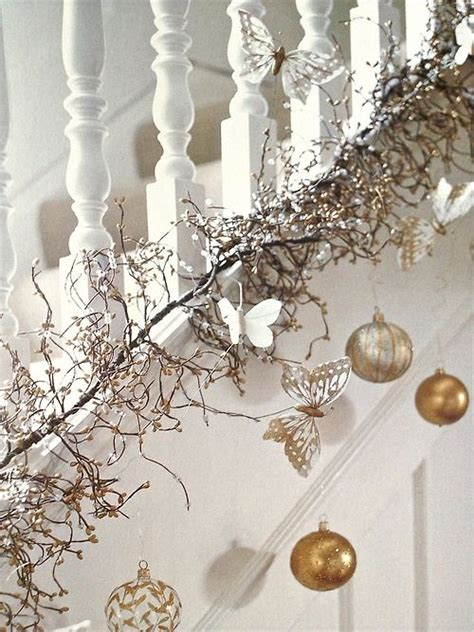 decorated garlands with lights decorated with garlands