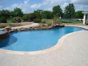 pool decking options resurfacing hand seeded p gravel deck platinum pools