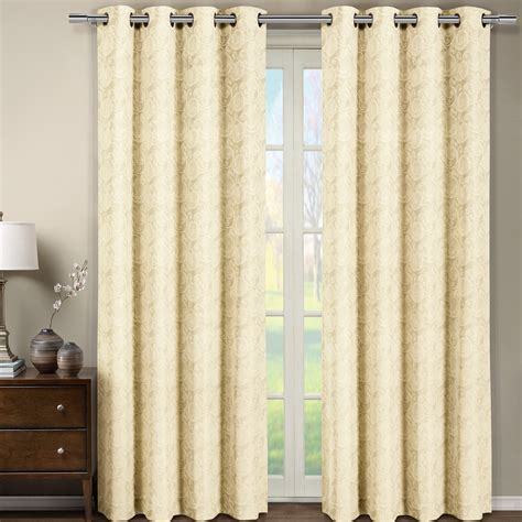 jacquard curtain panels tabitha jacquard grommet top curtain panel each