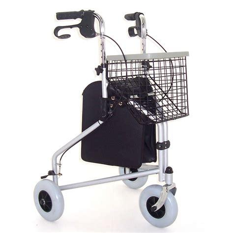 tri wheel walker with seat z tec folding steel tri wheel walker buy cheaply