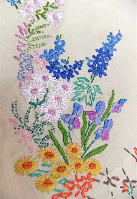 Embroidery Design For Table Cloth | vintage embroidered tablecloth embroidered table cover