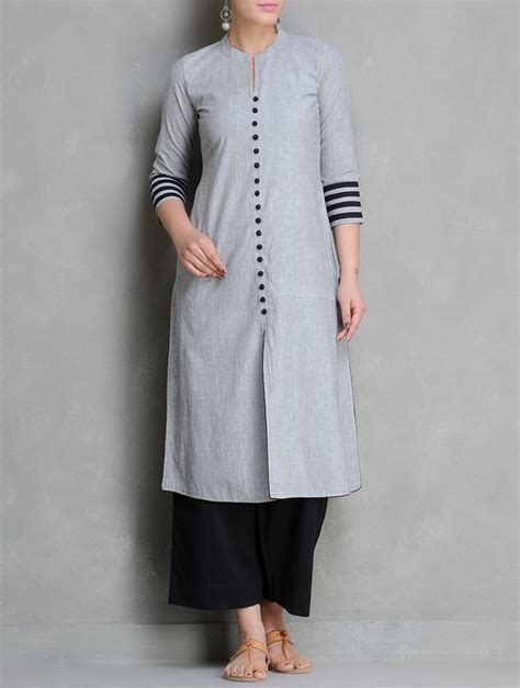 kurtas pattern buy grey black mangalgiri cotton kurta by maati crafts
