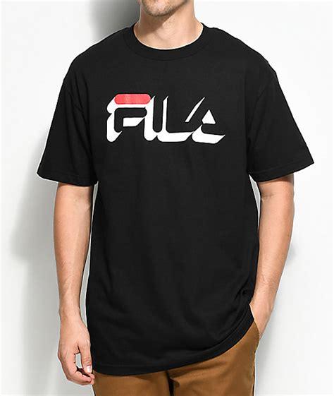 Black Fila Shirt Limited fila dropshadow black t shirt zumiez