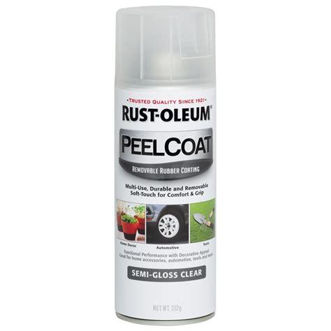 rustoleum clear coat spray paint rust oleum 312g semi gloss clear peel coat removable coating