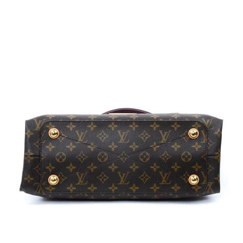 louis vuitton burgundy monogram canvas olympe handbag