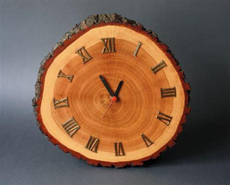 wood clock vintage rustic wood cabin clock mid century modern