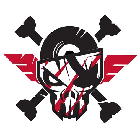 Sticker Cutting Terror Skull transparant the sickest squad sticker small 10x10 cm white