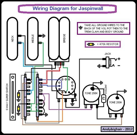 guitar wiring diagrams for switch
