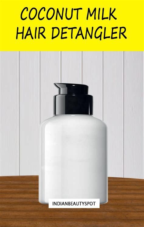 diy setting spray coconut diy hair detangler detangle and condition smooth