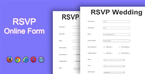 wedding rsvp wording sles rsvp form by maroon82 codecanyon