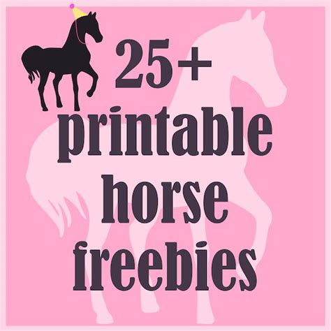 printable horse birthday decorations round up of 25 printable horse and pony themed freebies