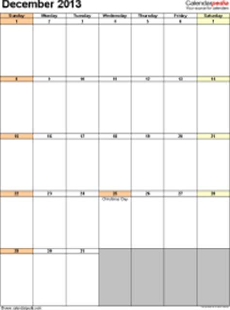 december 2013 calendars for word excel pdf