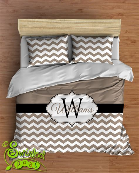 personalized comforter custom chevron bedding in comforter or duvet style features