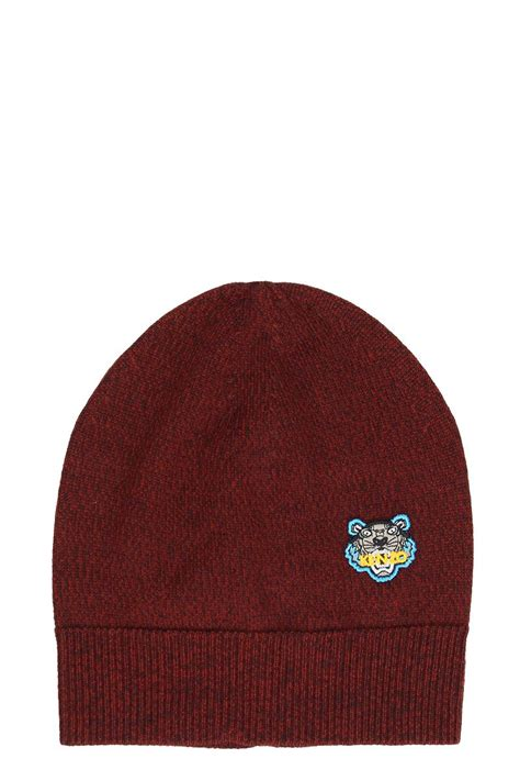 Kenzo Hat kenzo kenzo tiger beanie hat bordeaux s hats