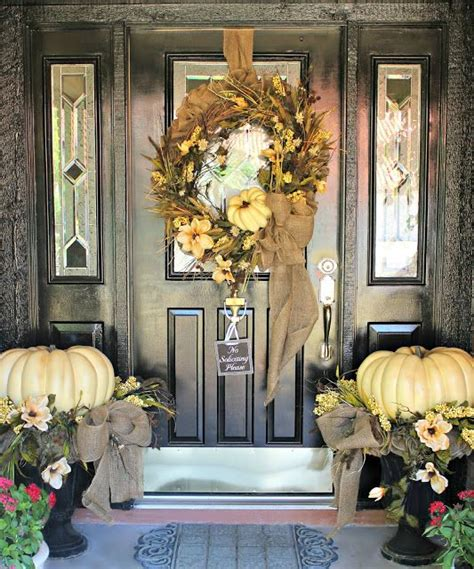 front door entrance decorating ideas 67 cute and inviting fall front door d 233 cor ideas digsdigs