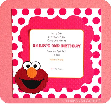 elmo birthday invitations birthday party invitations