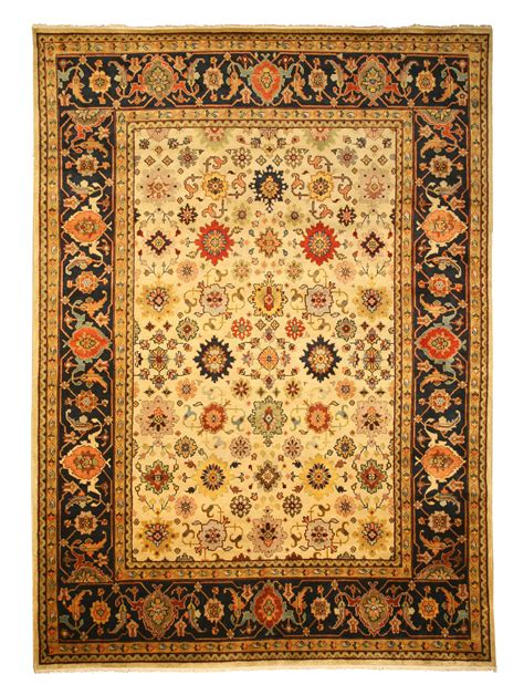 knotted rugs india tribal and geometric knotted wool india rug sht19iv1014