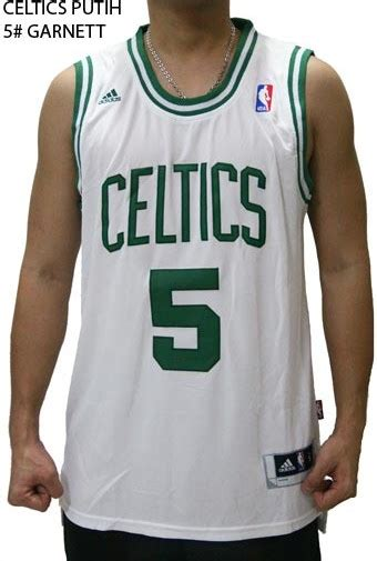 Jersey Basket Setelan Nba All Putih jersey nba basket celtics putih 5 garnett butik jersey