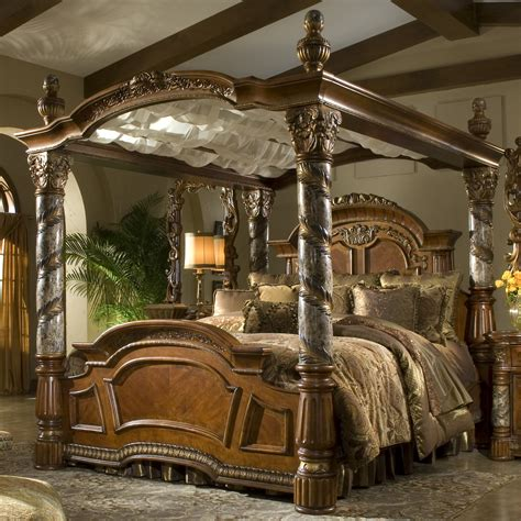 villa valencia bedroom set michael amini villa valencia canopy customizable bedroom set reviews wayfair