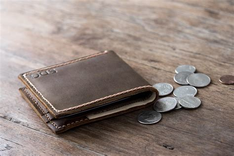 Handmade Leather Mens Wallets - leather coin pocket wallet handmade original design by