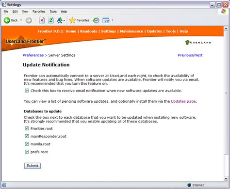 Getting Updates To Manila Server Maintenance Email Template