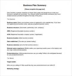 Business Plan Template Gov by Sle Business Plan 8 Exle Format