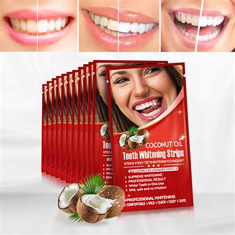 activated charcoal teeth whitening strip coconut oil