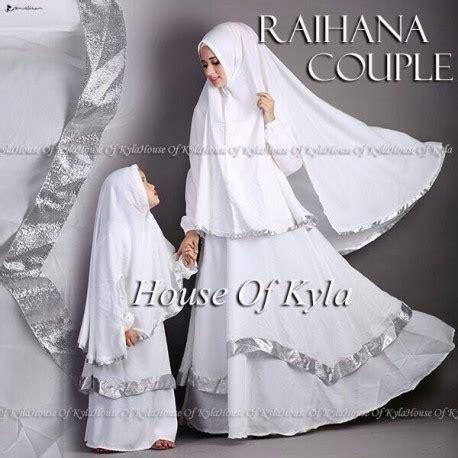Ready Bunda Setelan Gamis Busana Muslimah Burberry Syari raihana kid white baju muslim gamis modern