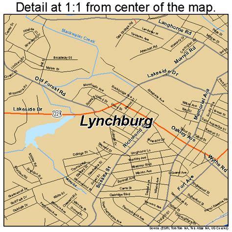 map of lynchburg virginia lynchburg virginia map 5147672