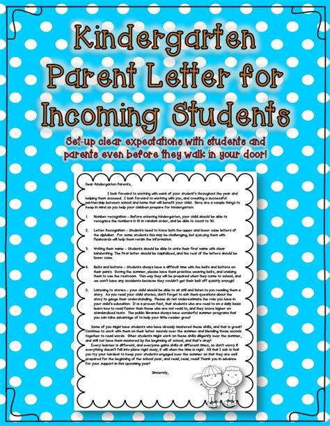 Parent Letter To Kindergarten 25 Best Ideas About Notes To Parents On Parent Notes Positive Behavior And