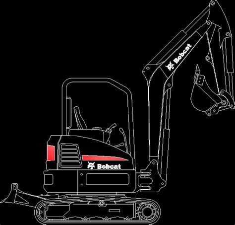 bobcat mini excavator dwg block  autocad designs cad