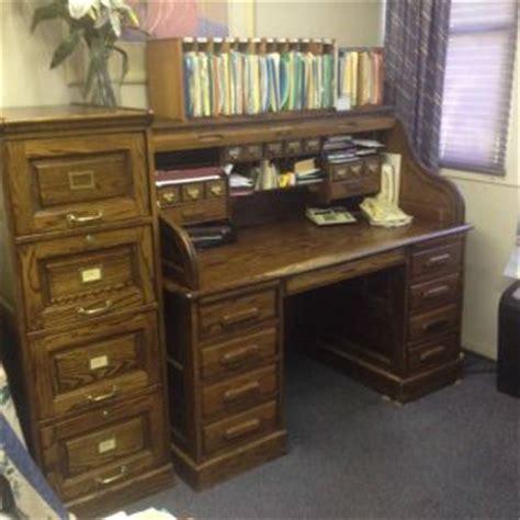 used oak roll top desk on popscreen
