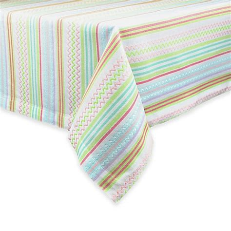 bed bath and beyond easter easter zigzag stripe tablecloth bed bath beyond