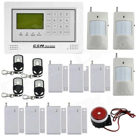 Best Deal Alarm Lcd Wireles Wired Berbasis Gsm Untuk Keamanan Rumah dp 40a defense gsm home security alarm system lcd touch