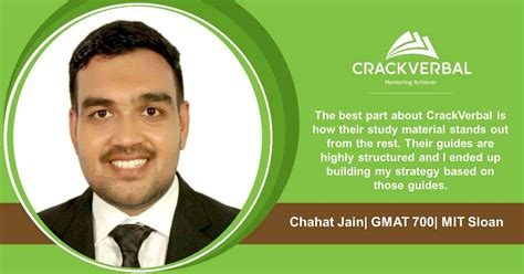 Tech Mba Gmat Score by Chahat Jain An Mit Admit With A 700 On The Gmat Gmat