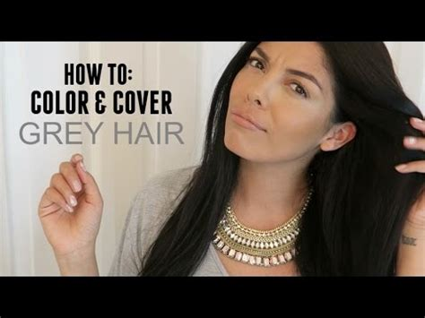 how can i use highlights to hide gray hairline with black hair how to color cover grey hair at home youtube