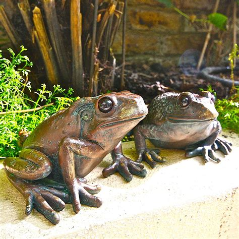 Garden Frogs by Pair Of Frog Garden Sculptures By Garden Trading