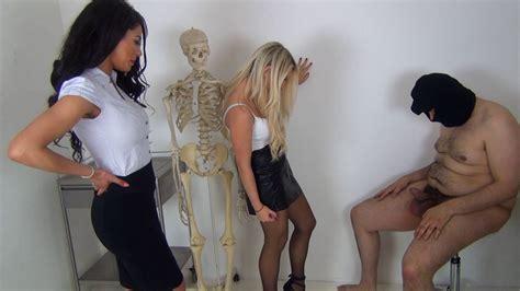 Sexy females punching mens balls