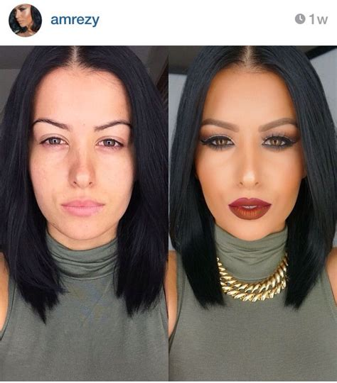 before and photos amrezy before and after makeup make up maquillaje