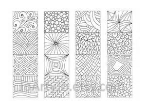 color your color your own bookmarks zentangle inspired printable