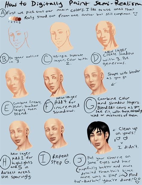 paint tool sai realistic skin tutorial digital semi realism skin tutorial by thecomicstream on