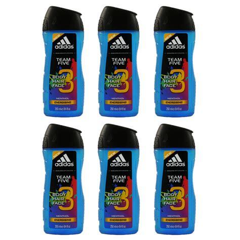 Adidas Team Shower Gel adidas team five 6 x 250 ml duschgel showergel set bei
