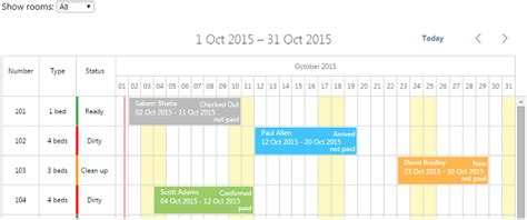 Calendar Room Booking System by Dhtmlx Scheduler Net How To Hotel Room Reservation